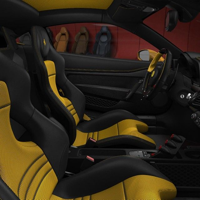 Ferrari 458 Speciale Yellow And Black Interior