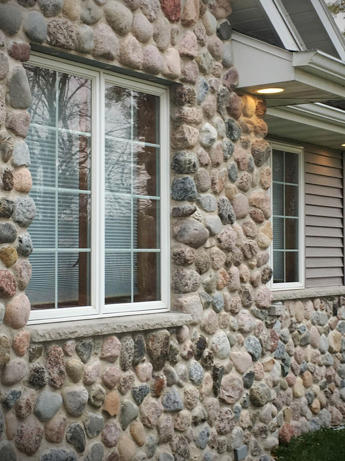 Veneer Stone Home Facade Granite Cobbles Stone Veneer Siding