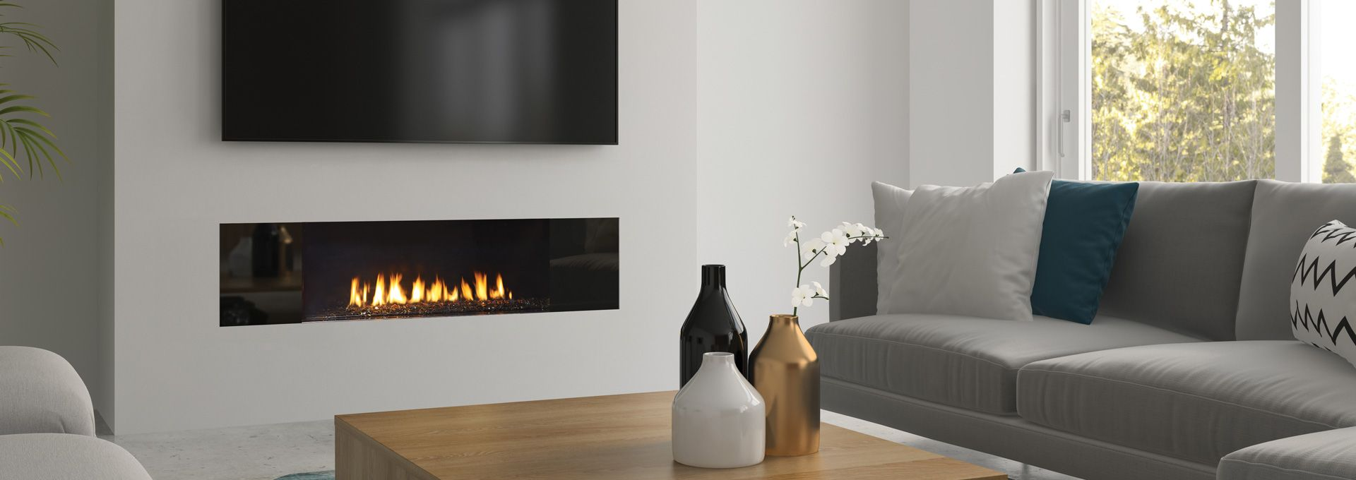 Regency City Series New York View 40 Modern Gas Fireplace Modern