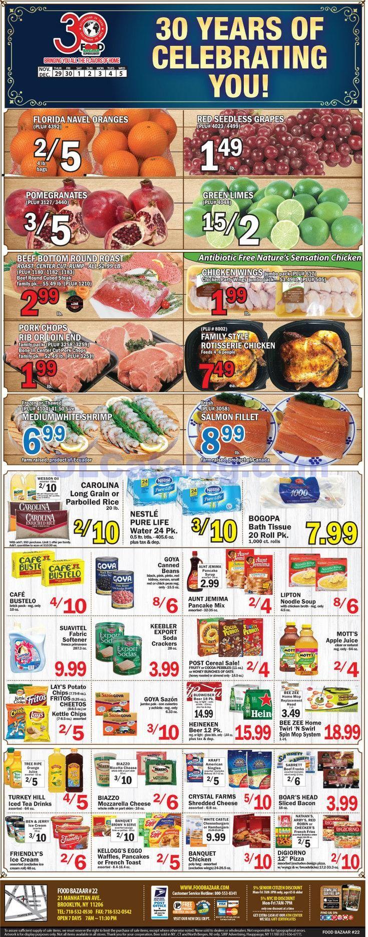 Food bazaar weekly ad november 29 december 5 2018 do