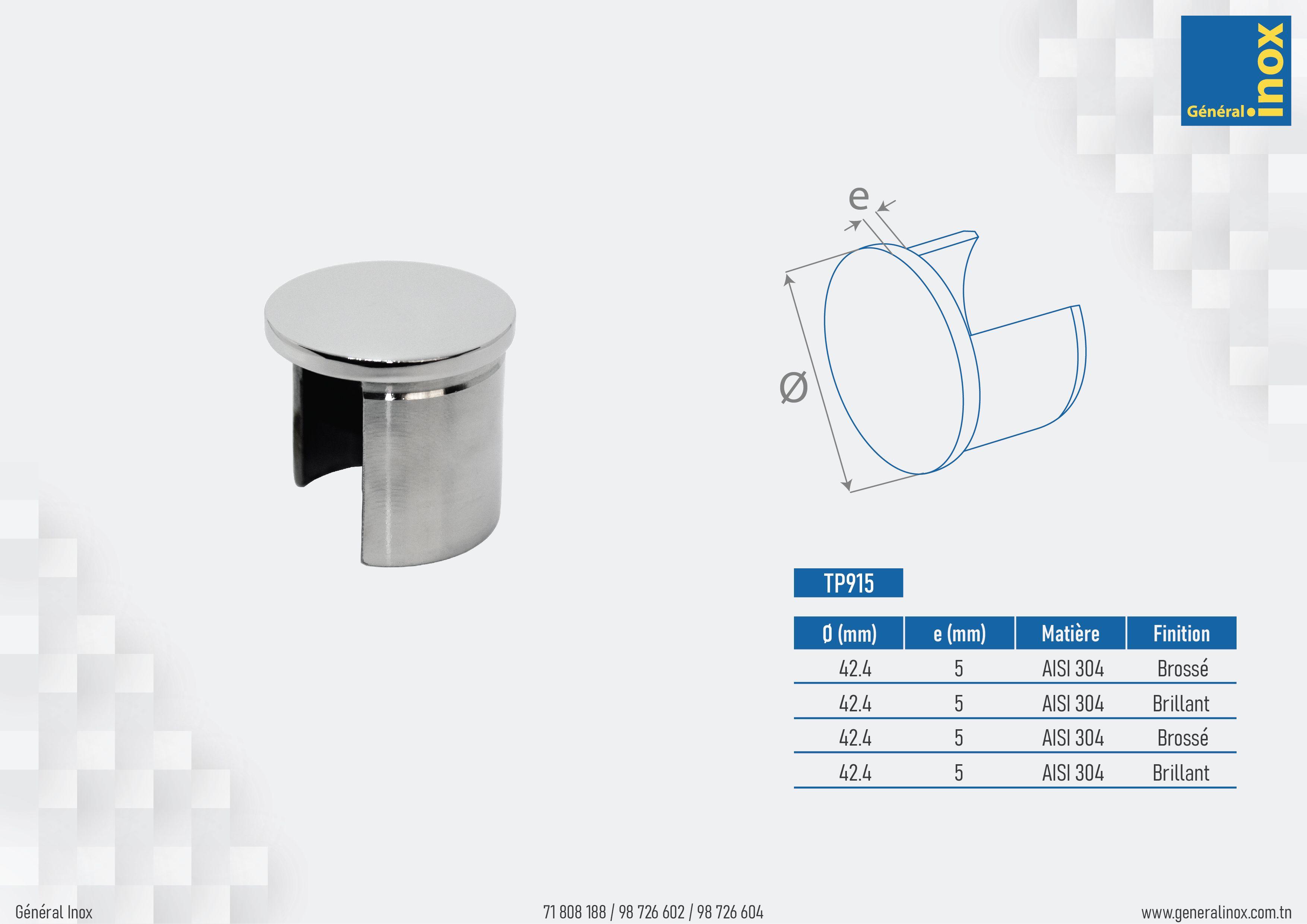 Embout Plat Pour Tube Rond En U 42.4mm (avec images