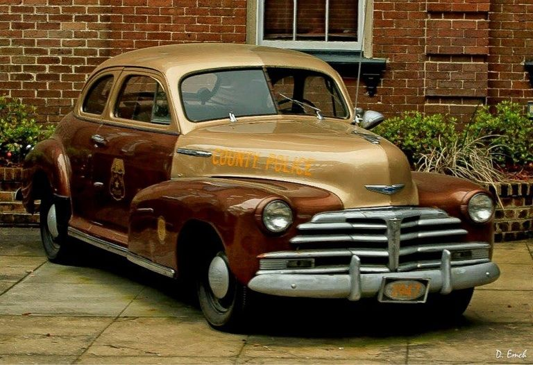 1947 Chevrolet two door coup. County Police car....