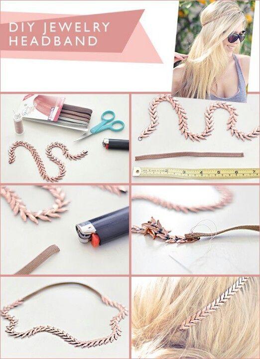 Fabriquer un headband bijoux bijoux bandeau cheveux - Creer des bijoux soi meme ...
