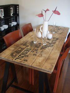 vintage industrial -old door as table