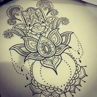 Mano De Fatima Hamsa Hand Tattoo Hamsa Tattoo Design Hamsa Tattoo