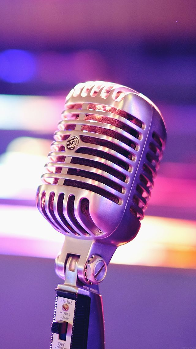 Aesthetic Microphone Closeup Iphone 5s Wallpaper Music Wallpaper Vintage Microphone The Moon Is Beautiful