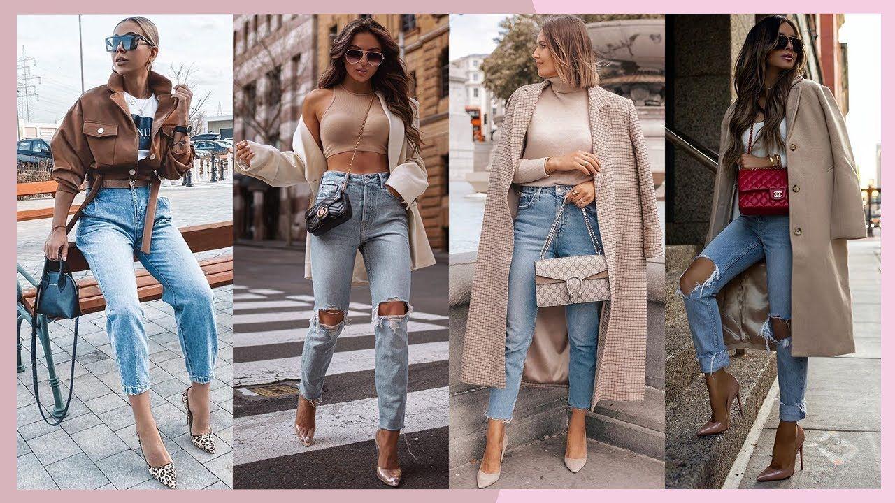 Outfits Con Jeans 2020 21 Moda Otono Invierno 2020 2021 Outfits Con Outfits Con Jeans Fashion Mom Jeans