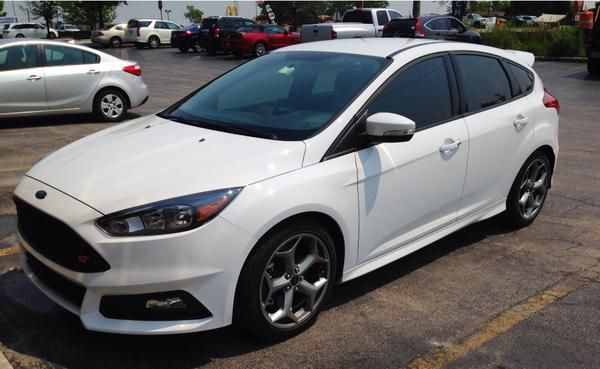 ford frozen white ford focus st