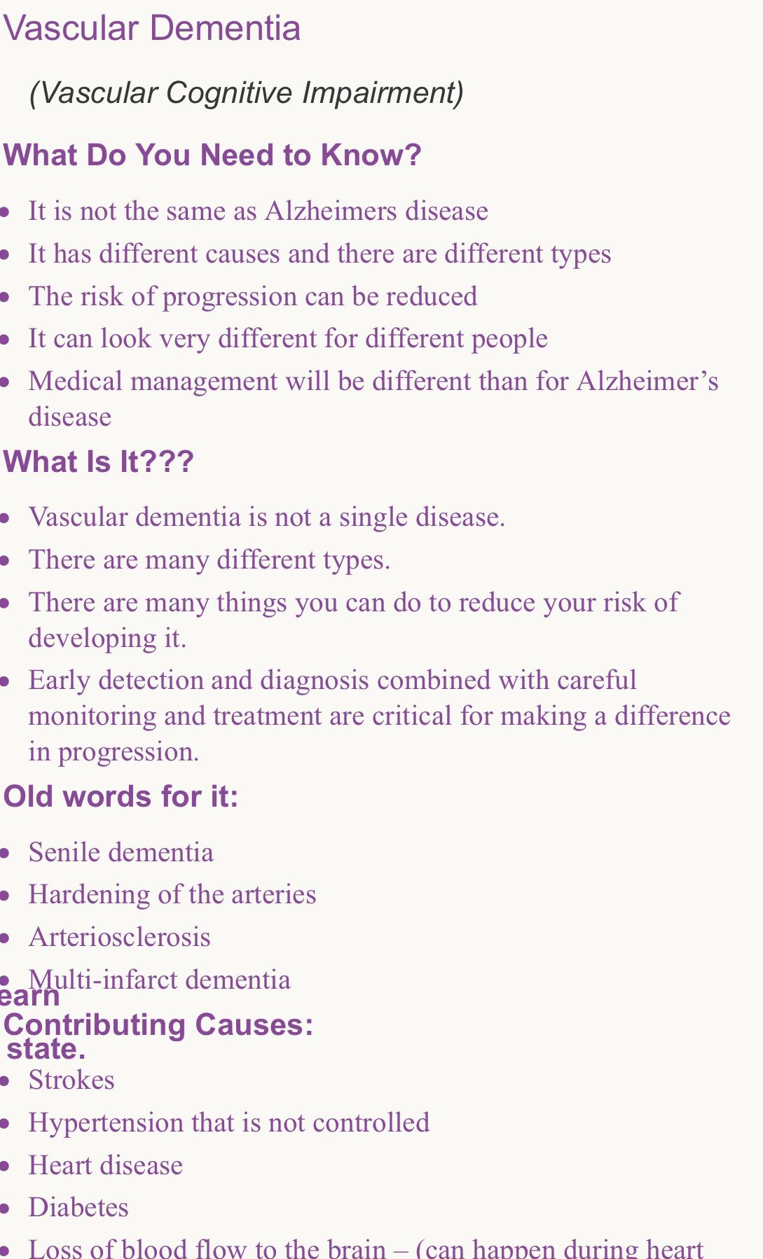 Pin By Pam Young On Vascular Dementia