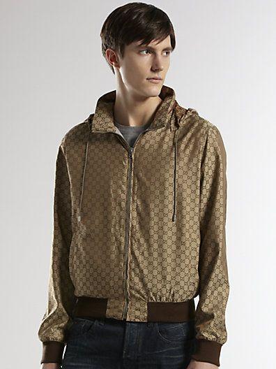 1ba346a65 Gucci - GG Nylon K-Way Jacket - Saks.com $920 | Beautiful clothing ...