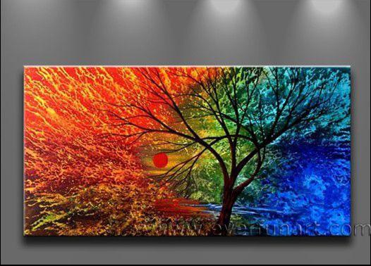 Pintura abstracto arbol - Imagui | Arte | Pinterest | Árboles ...