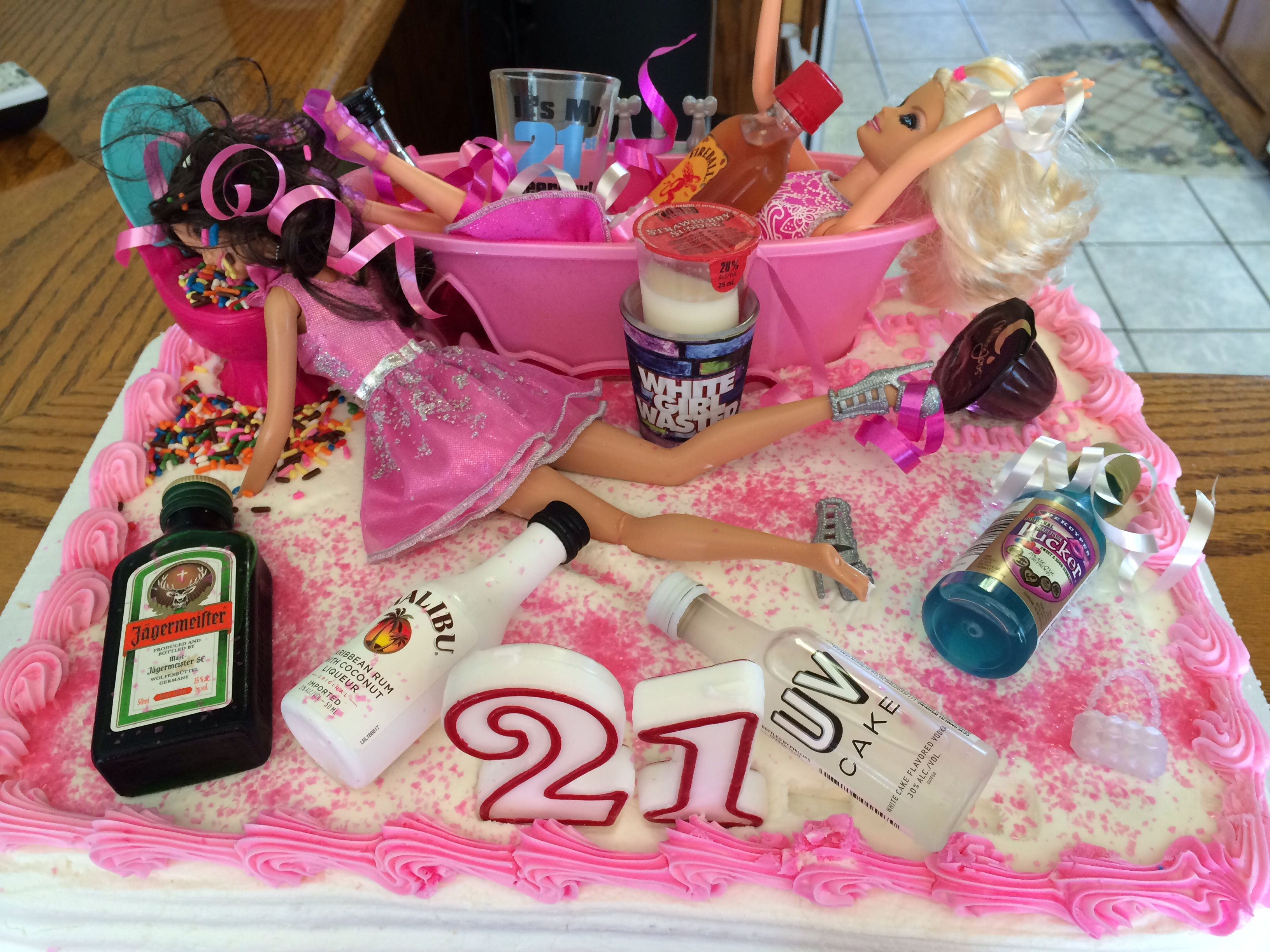 Drunk Barbie Cake I Made For My Daughters 21st Birthday