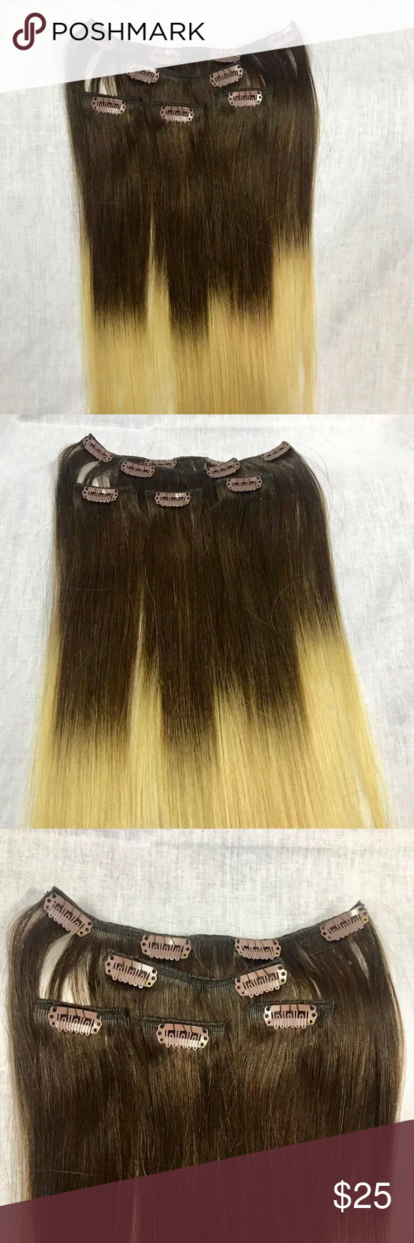 piece clip in hair extension ombré streaks nwt pinterest