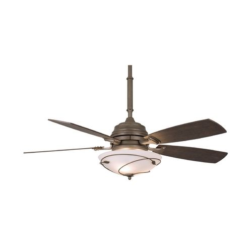 Fanimation fans ceiling fan with light with white glass in dark smoke finish hf6200ds