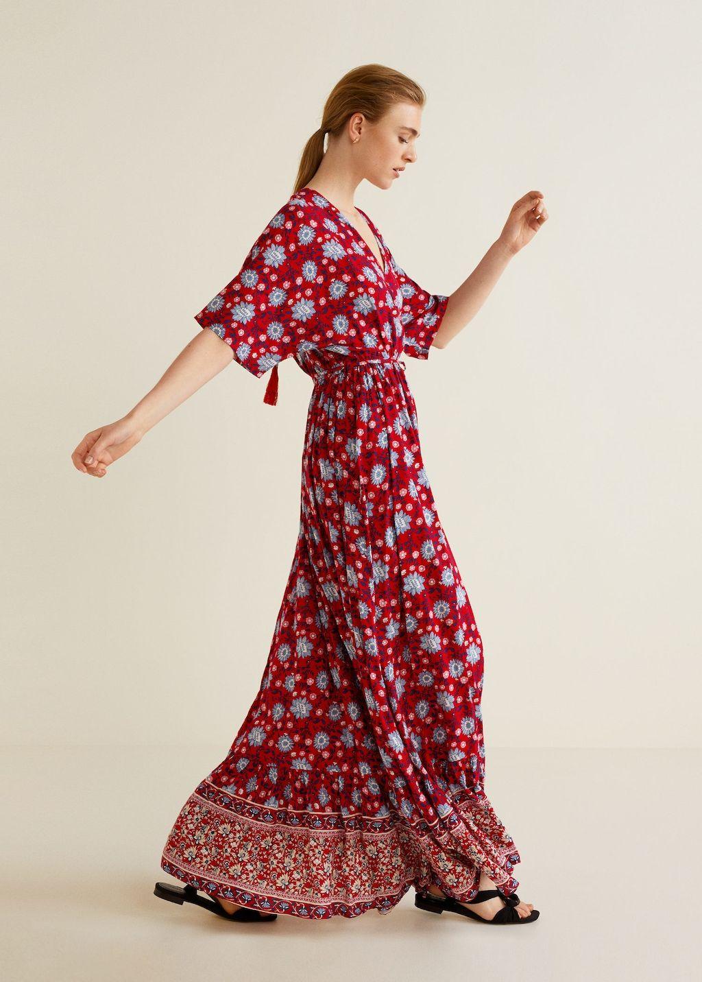 gebloemde lange jurk