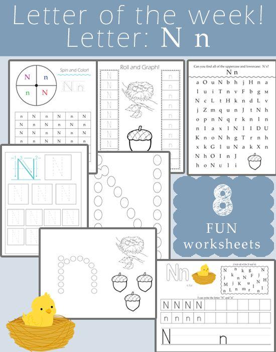Letter of the Week: Letter N | Klasse, Schreiben und Lesen