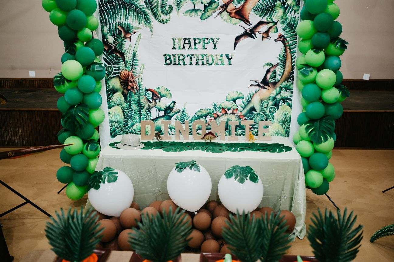 Dinosaur medium rental package birthday party supplies