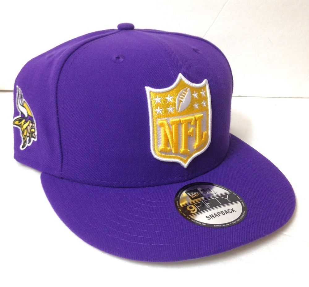 MINNESOTA VIKINGS NFL LOGO SNAPBACK HAT Purple Yellow NEW ERA 9FIFTY  Men Women  NewEra  MinnesotaVikings 835f6894ca7
