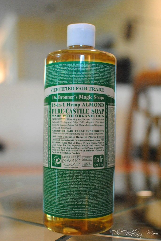Dr Bronners review (she switched back to CA baby after