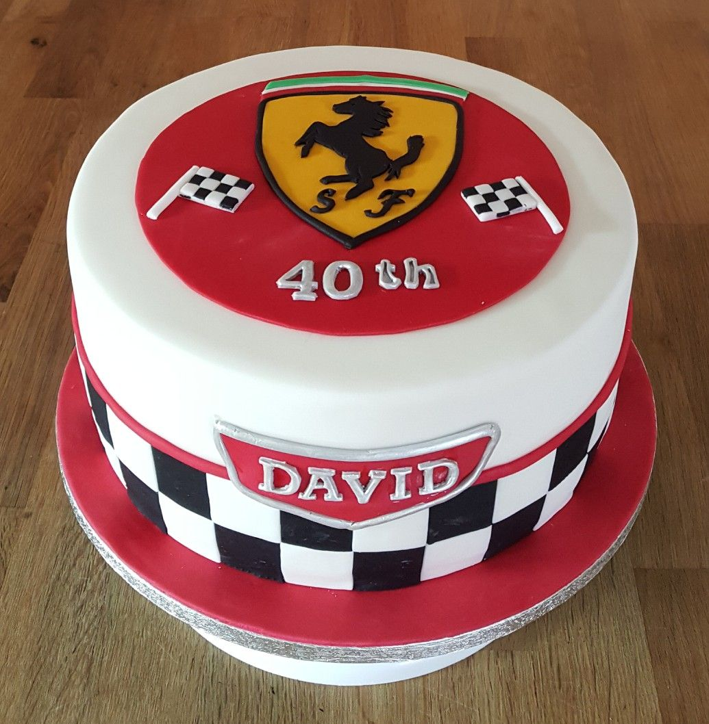 Ferrari Theme Birthday Cake With Images Ferrari Cake Racing