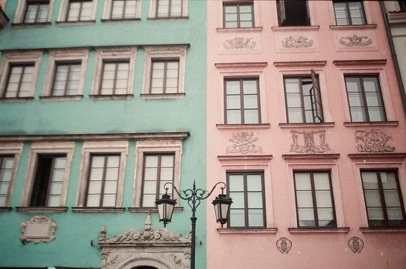 pretty painted buildings