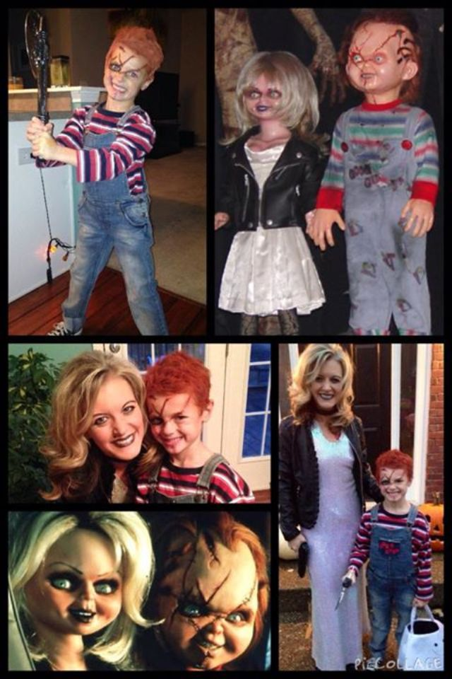 Mom and Son Halloween costume - Chucky and The Bride of Chucky ...