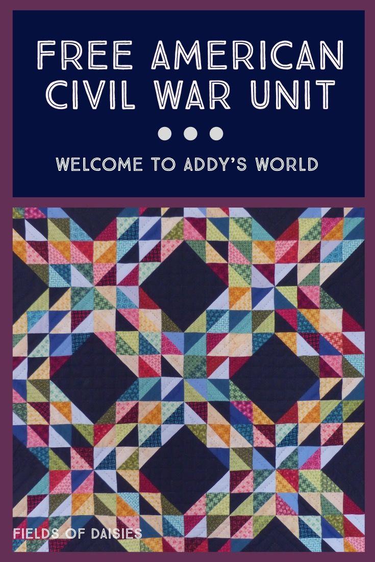 American girl addy civil war unit study civil war unit