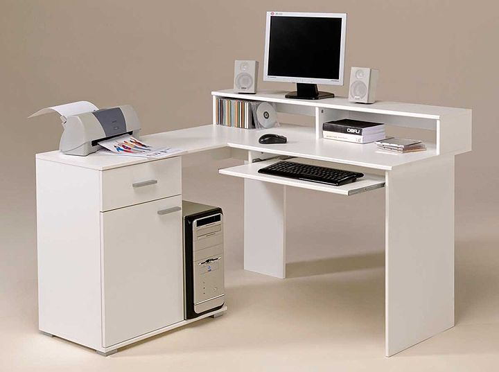 home office computer workstation. White Computer Desk Home Office Workstation L