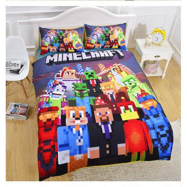 minecraft creeper 03 cool kids bedding bed set duvet cover pillow case