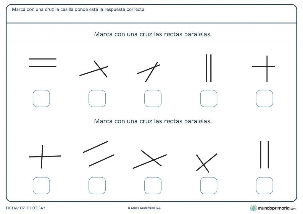 Fichas Para Imprimir Para Niños De Primaria Actividades De Geometría Paralelas Y Perpendiculares Angulos Matematicas