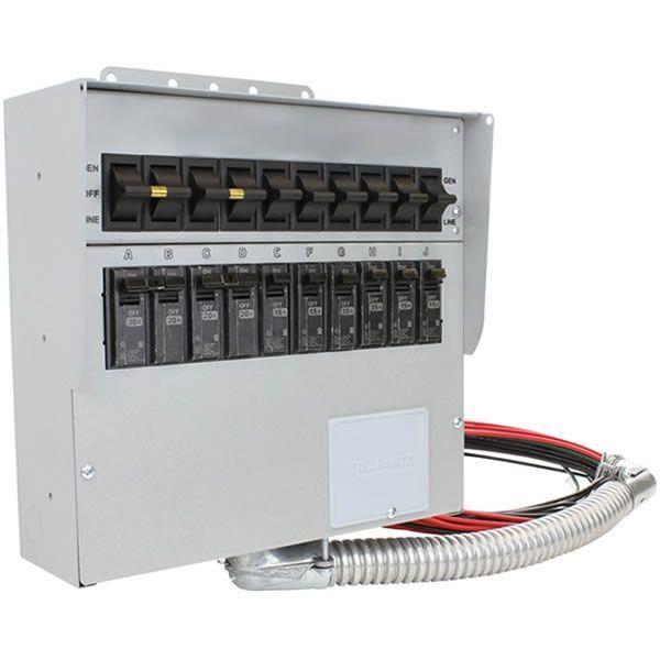 Reliance Controls Pro Tran 2 30 Amp 120 240v 10 Circuit