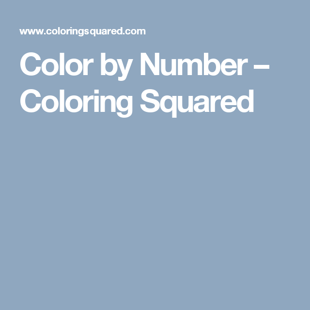 Color by Number | Number worksheets, Number and Kids colouring
