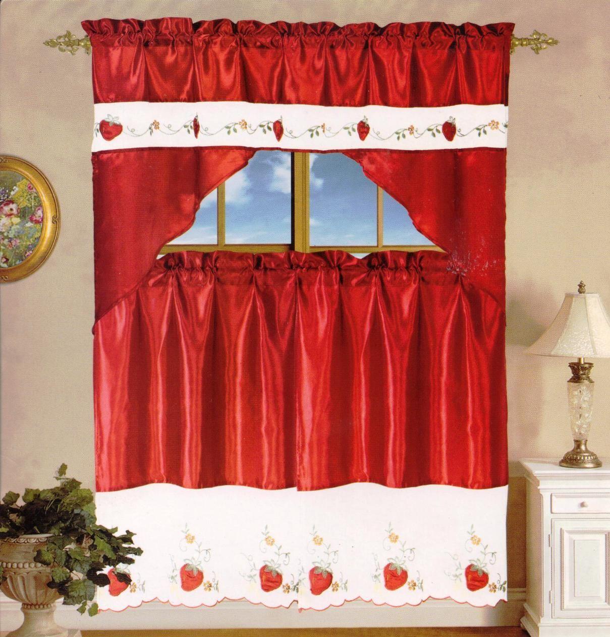 strawberry curtains | Strawberry Kitchen Curtain ...