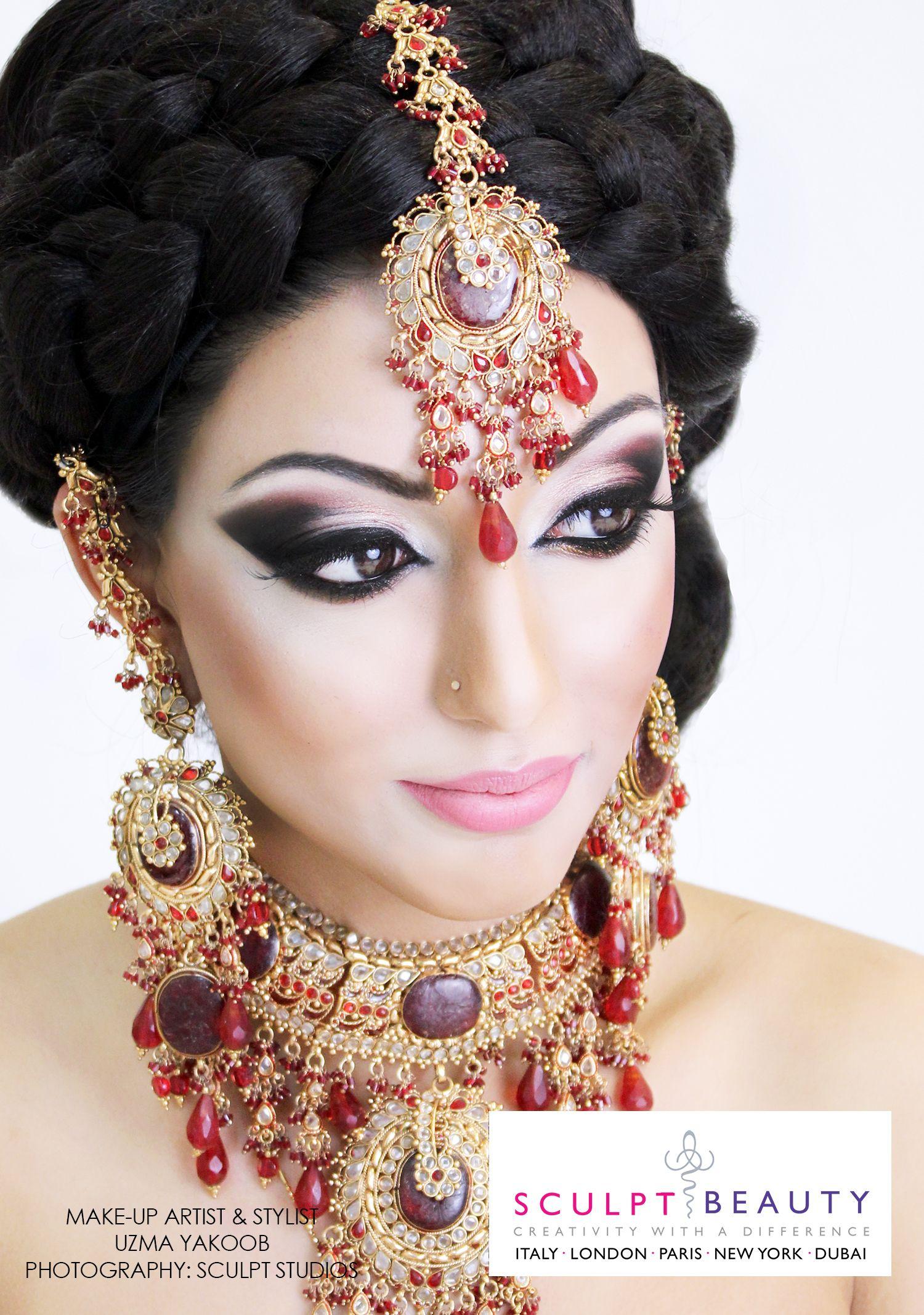 Bridal makeup by uzma yakoob for sculpt beauty sculpt