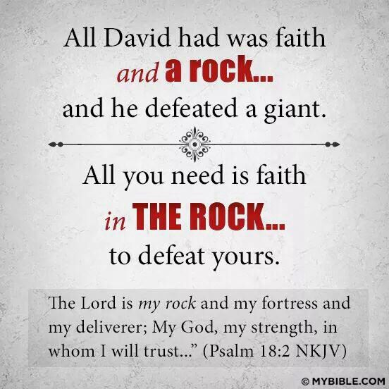Psalm 18:2 Faith Bible Verse. The Lord Is Our Rock