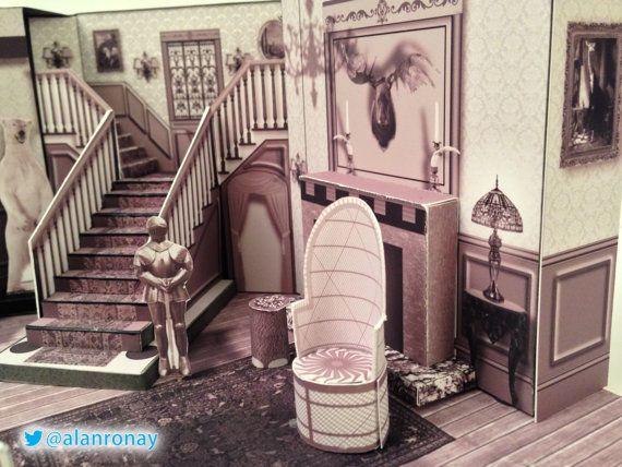 Series Scale Model 0001 Cemetery Lane Etsy In 2021 Addams Family House Family Tv Series Adams Family House