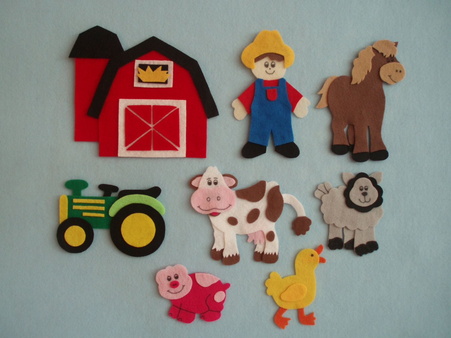 graphic about Printable Felt Board Stories called Upon McDonalds Farm felt tale printable templates - Google