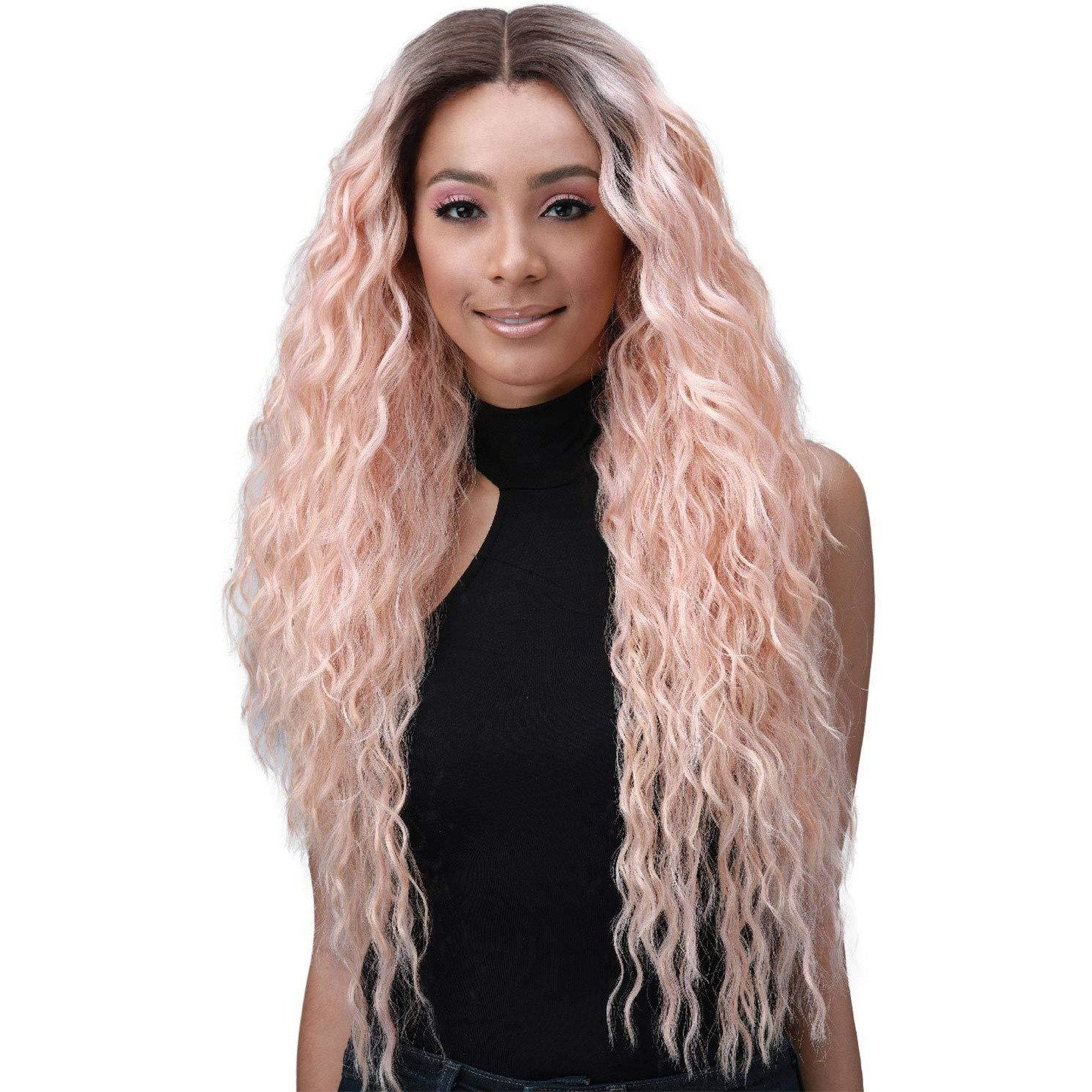 Bobbi boss human hair blend lace front wig ivana in