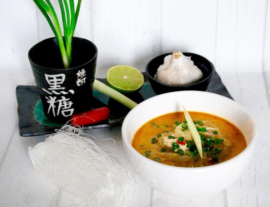 Glasnudlar soppa vegetarisk