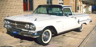 1959 Chevrolet El Camino Pickup Black Classic Cars Muscle