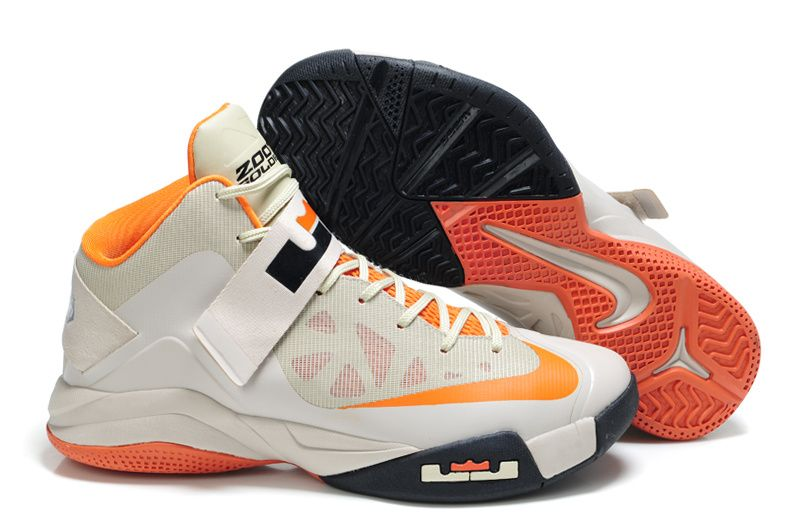 Buy Real Nike Zoom Lebron Soldier VI Shoes Tal Orange Grey 207887 106 Cheap  To Buy from Reliable Real Nike Zoom Lebron Soldier VI Shoes Tal Orange Grey  ...