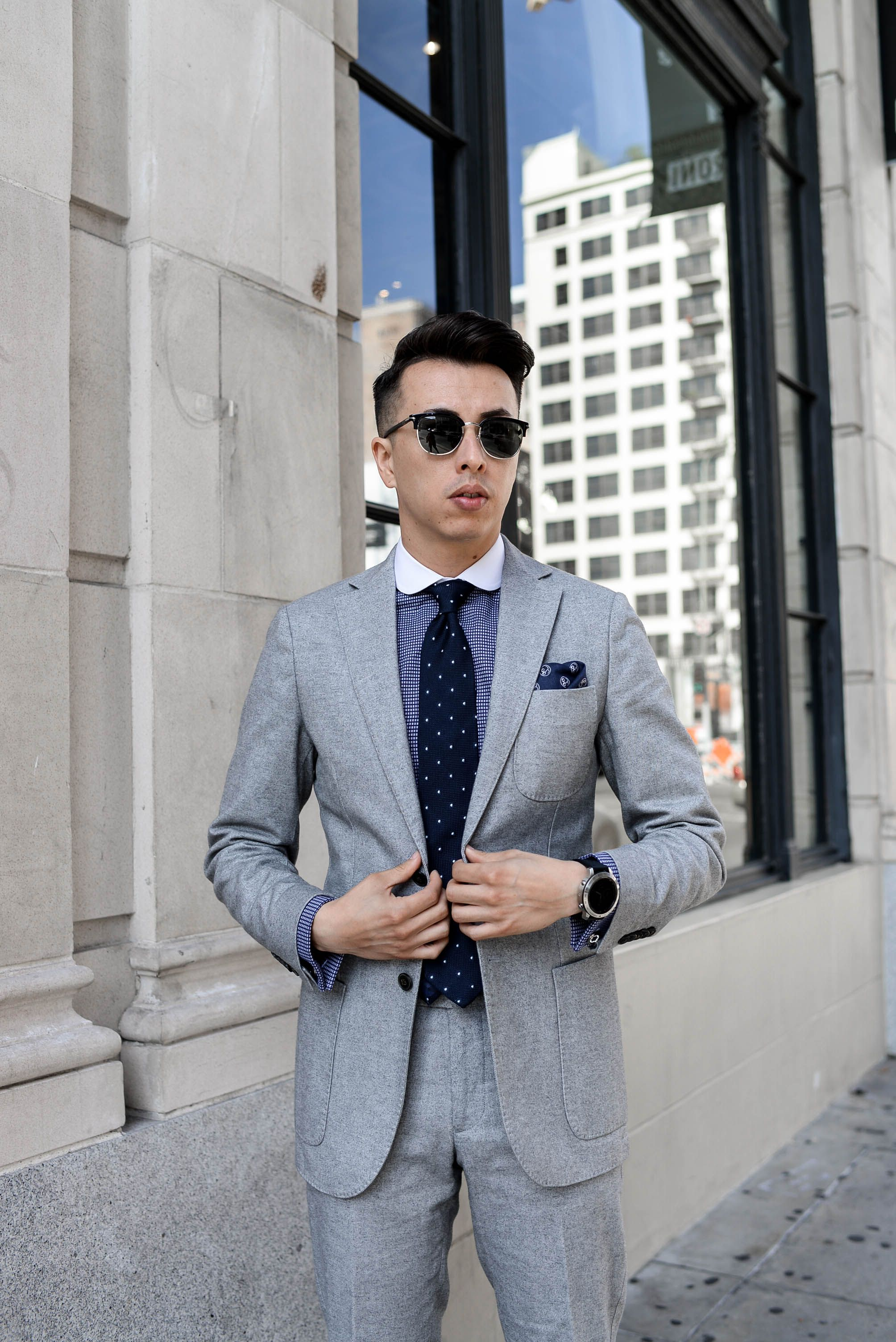 gray light go jacket suits suit moss skinny london grey fit