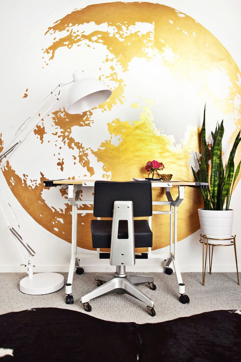 Large moon mural in gold paint use overhead projector a large moon mural in gold paint use overhead projector a beautiful mess amipublicfo Images