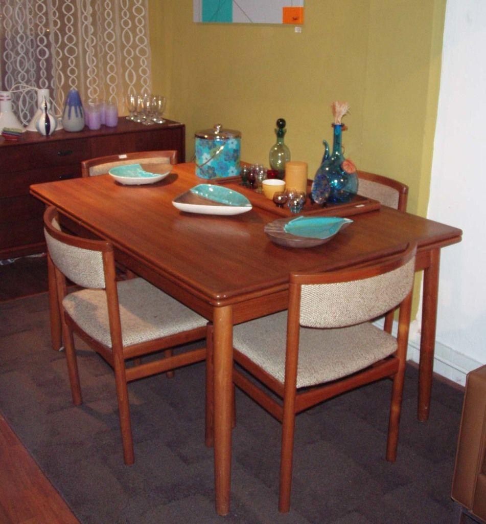 MCMDanish Modern styled light teakwood dinette set