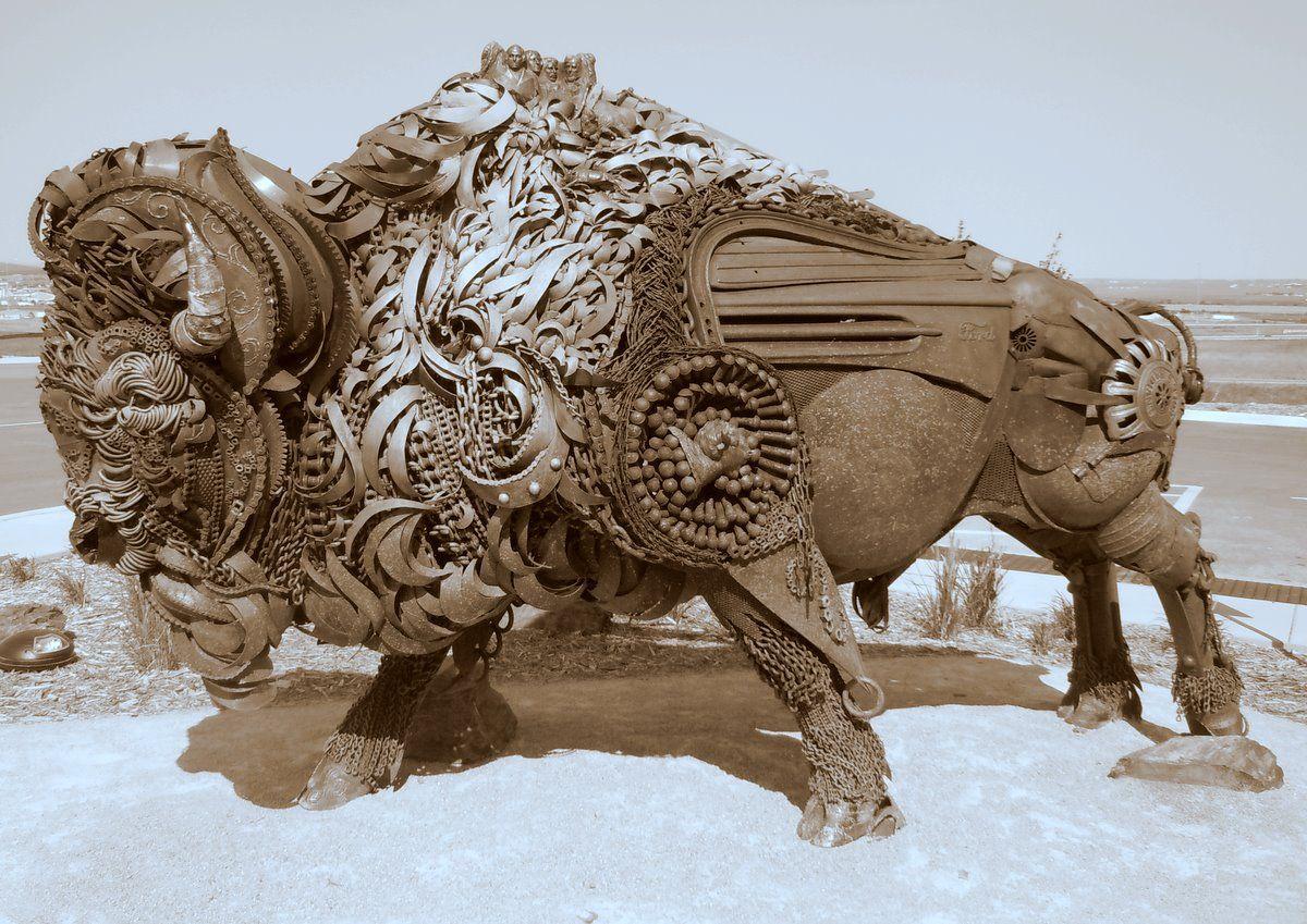 John Lopez (1200×849) Junk art, Buffalo art, Iron art