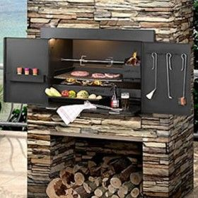 Infiniti Charcoal Wood Built In Braai Ideas For The