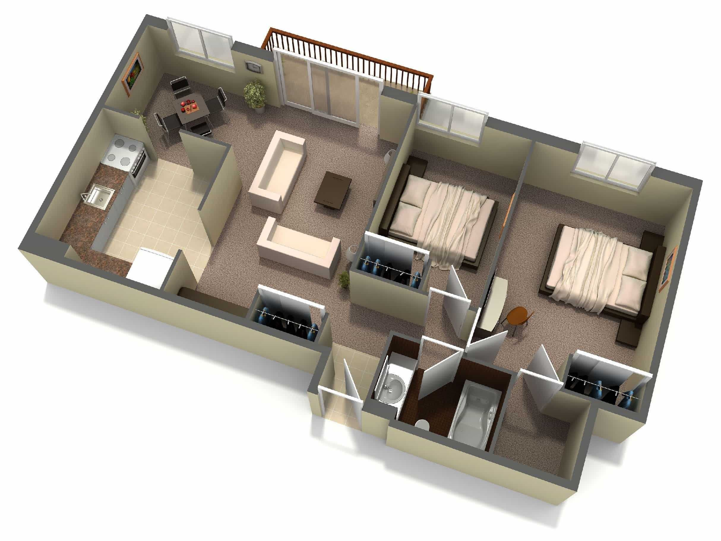 Small House Plans Under 700 Sq Ft in 2020 (With images