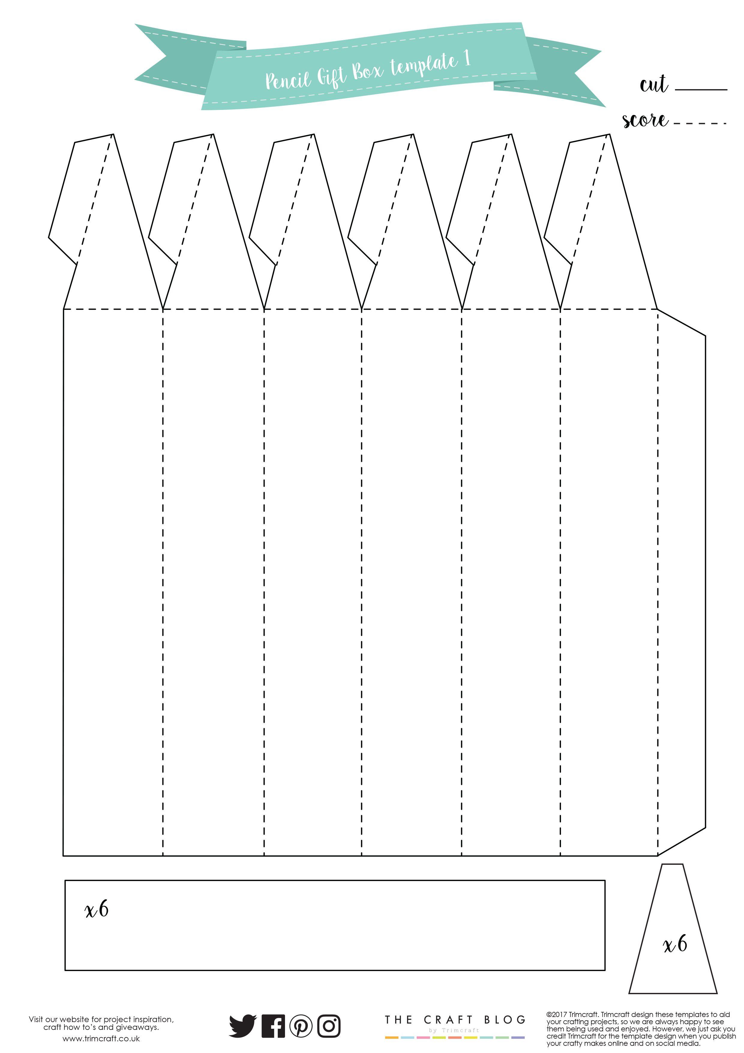 Pencil Gift Box Template | Поделки | Pinterest | Gift box templates ...