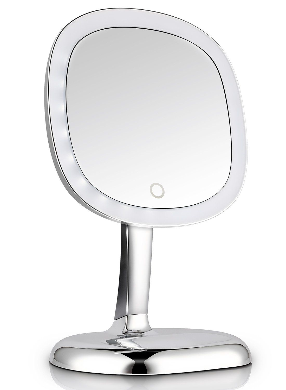 7x Magnifying Lighted Makeup Mirror 9 Inch Cordless Portable
