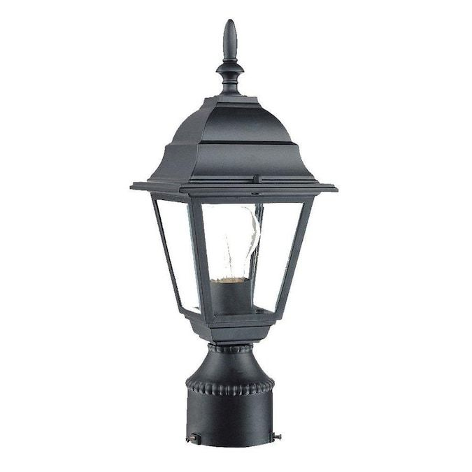Acclaim Lighting Builders Choice 100 Watt 14 In Matte Black Traditional Post Light Lowes Com In 2020 Post Mount Lighting Acclaim Lighting Post Lights